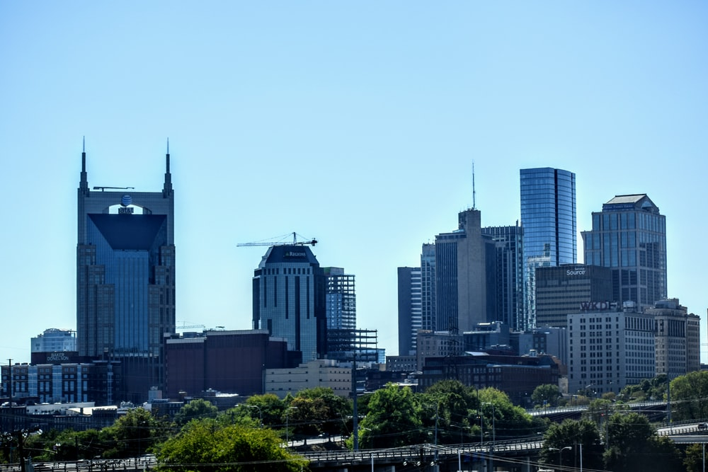 Cityscape around the AT&T building in Nashville, Tennessee