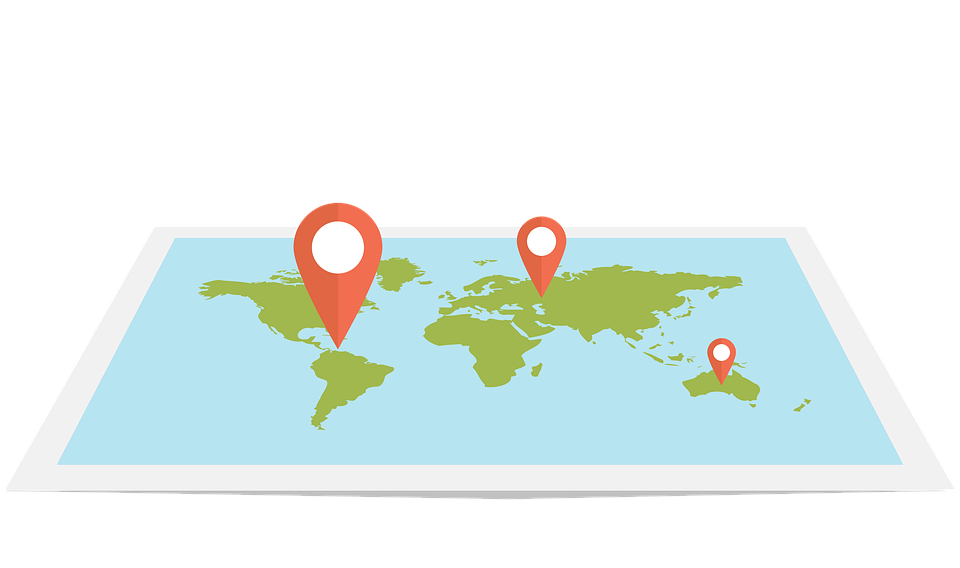 Web, Map, Flat, Design, Pin, World, Travel, Gps, Local